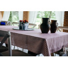 Tablecloth red and white stripes, narrow 140x200cm