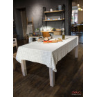 Tablecloth gray cage 140x200cm